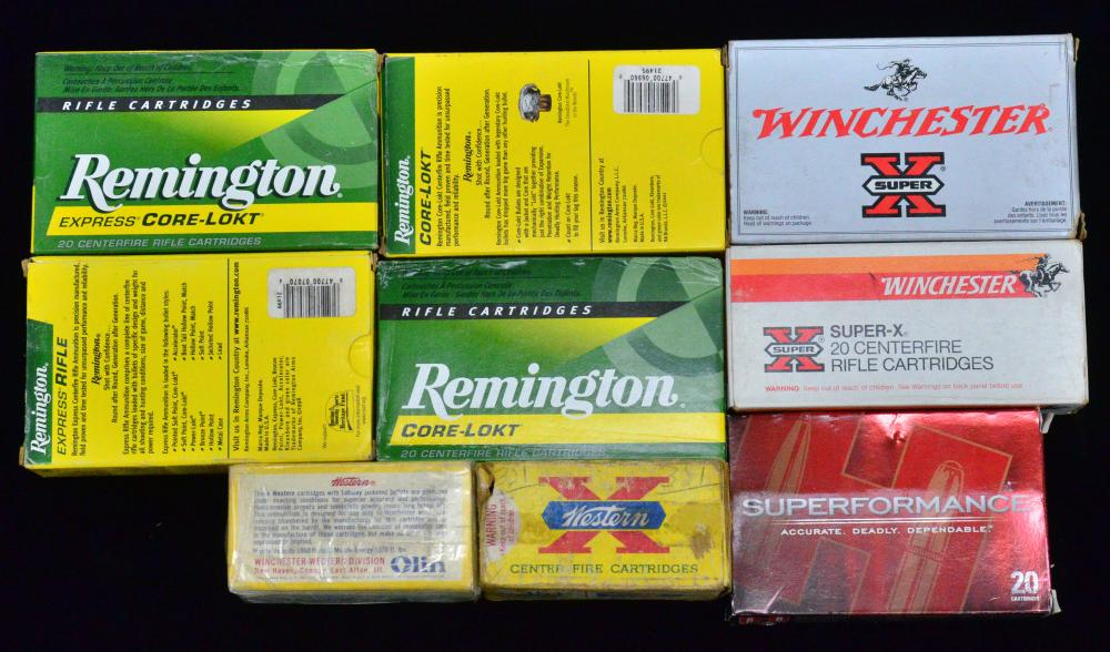 35 WHELEN, 356 & 351 WINCHESTER AMMO    Auction Lots