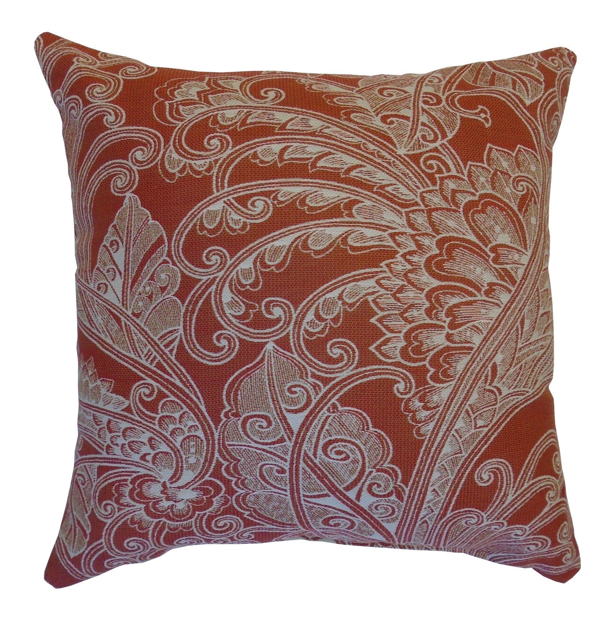 Oswald Terracotta Throw Pillow