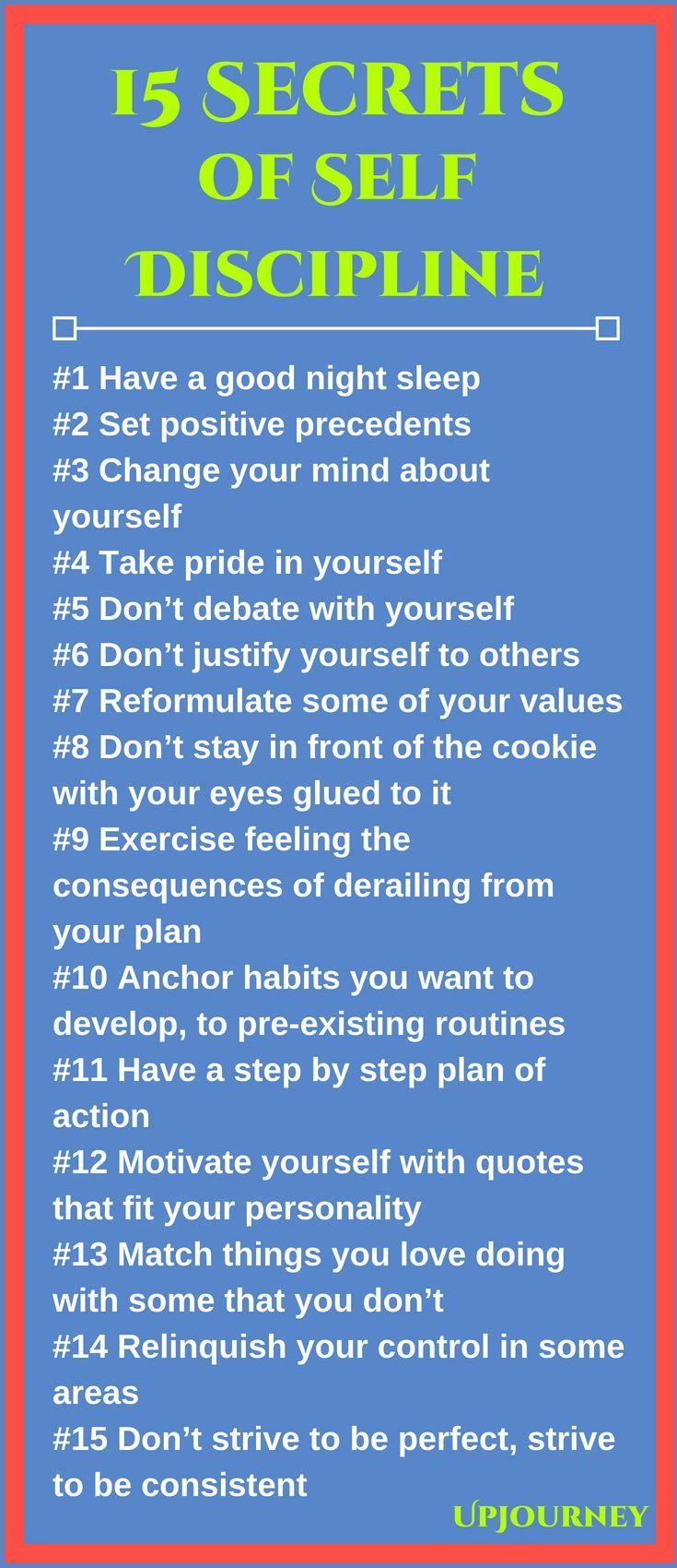 15 Secrets of Self-Discipline #discipline