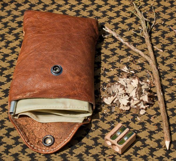 Fire Lighting Kit Tinder Pouch Pipe And Pencil