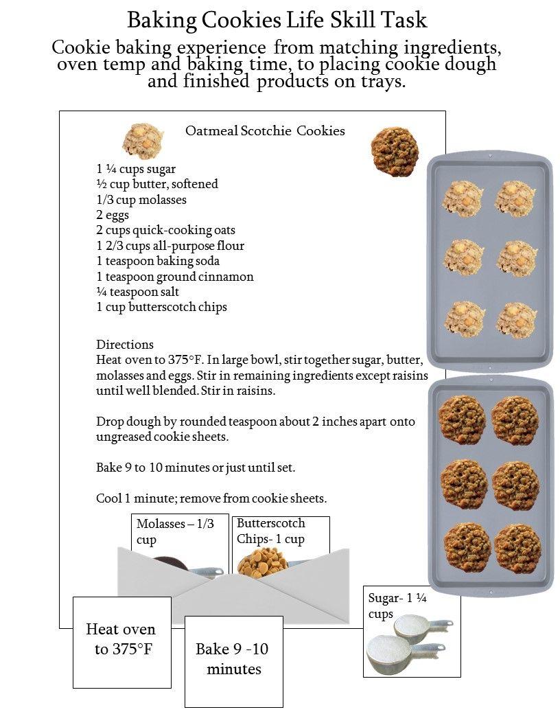 Life Skill Task Baking Cookies With Images Life Skills Skills