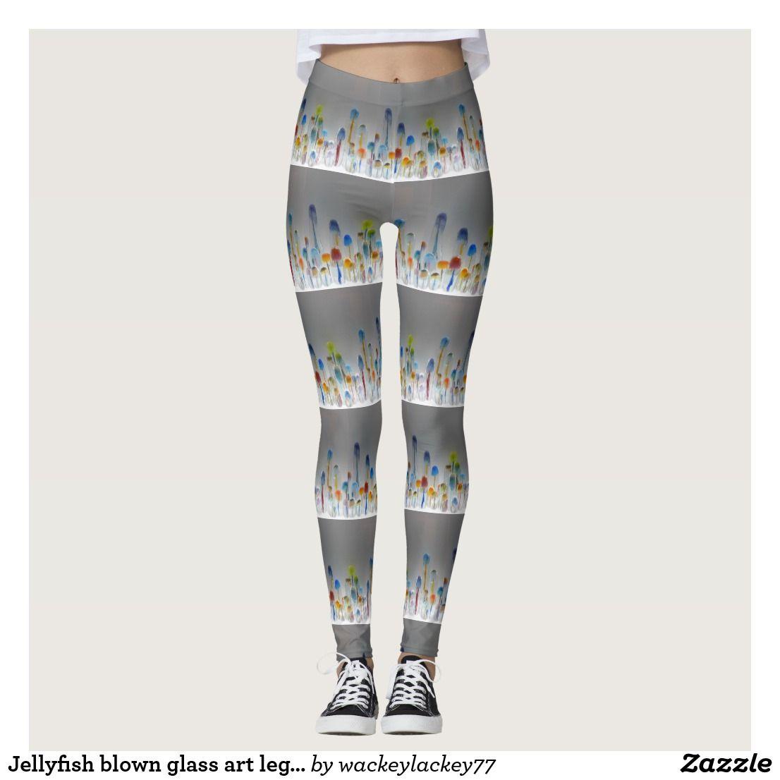 Artistic All Over Printed Leggings Designer Clothing Jellyfish Painting