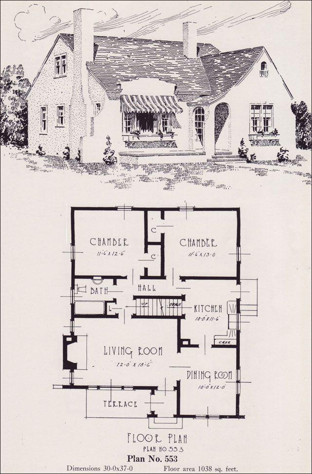 1926 Portland Home Plan by Universal Plan Service - No. 553 Plan 553 ...