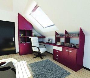 bureau sous combles archea faire construire sa maison. Black Bedroom Furniture Sets. Home Design Ideas