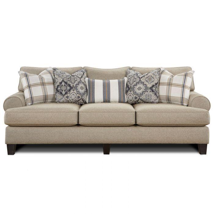 fusion whitaker beige twill sofa traditional home style sofa rh pinterest com