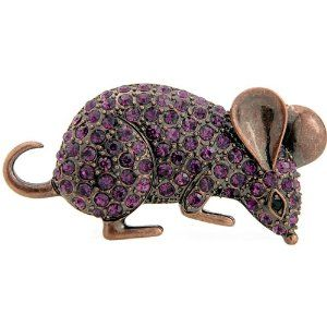 Vintage Style Amethyst Mouse Mice Rat Austrian Crystal Purple Animal Pin Brooch (Jewelry)  http://www.picter.org/?p=B0058PUE6W