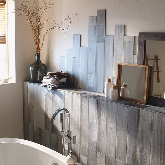 Latest carrelage sol et mur bleu x cm lam ocan with for Castorama decoration interieure