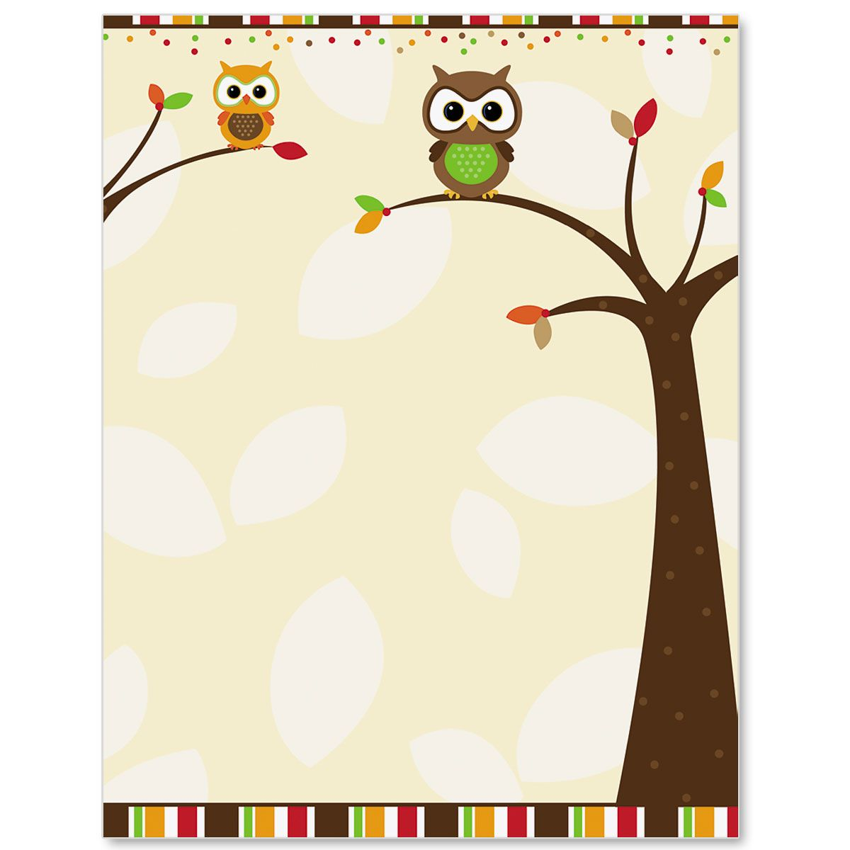Autumn Owl Border Papers Borders For Paper Clip Art Borders Page Borders Design