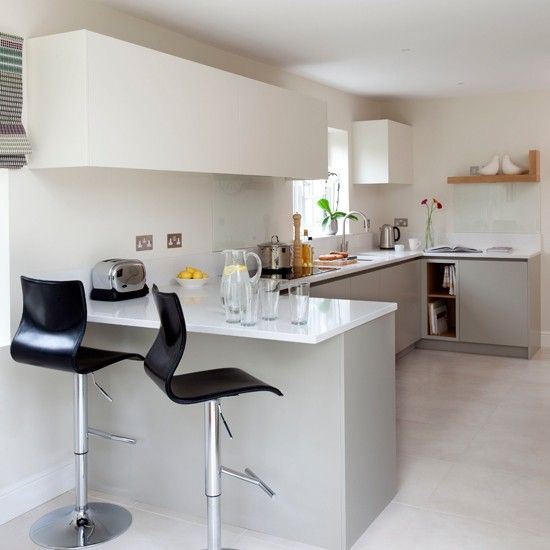 Awesome White Modern Breakfast Bar Kitchen Beautiful Kitchens Housetohome.