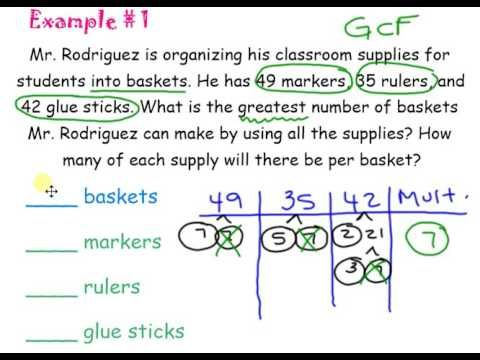 GCF/LCM Word Problems | Math | Lcm, gcf, Word problems, Math numbers