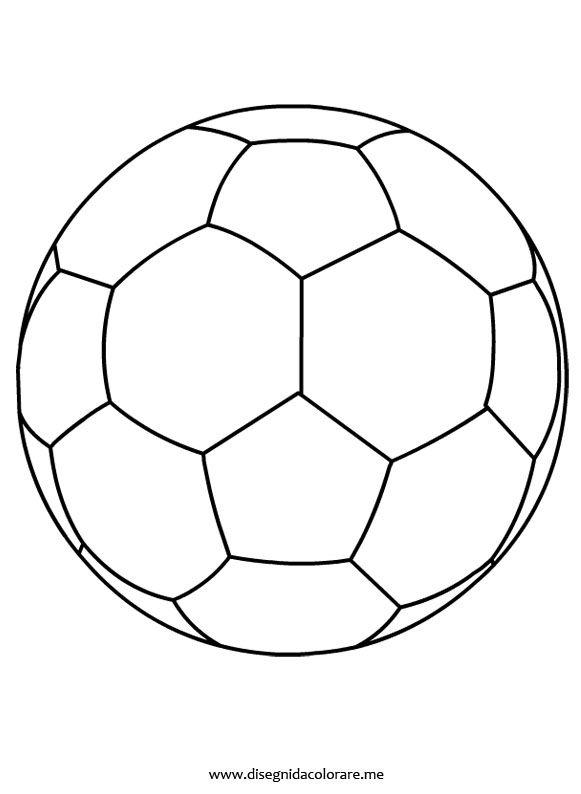 Pallone Calcio Da Colorare Omalovanky A Sablony Soccer Ball