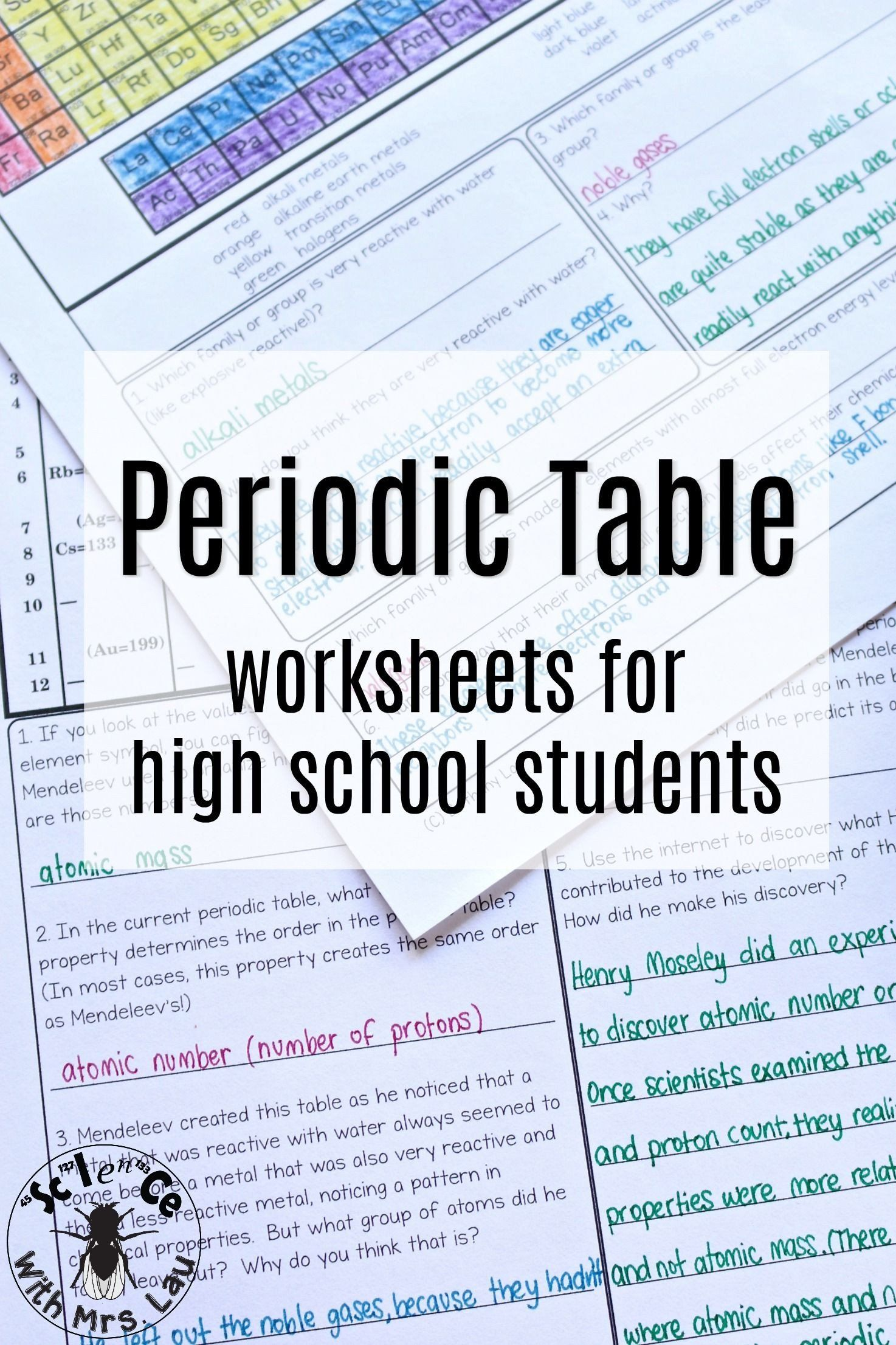 Periodic Trends Worksheet Answer Key Periodic Table Trends Chemistry Homework Page Unit Bundle In 2020 High School Chemistry Chemistry Worksheets Teaching Chemistry