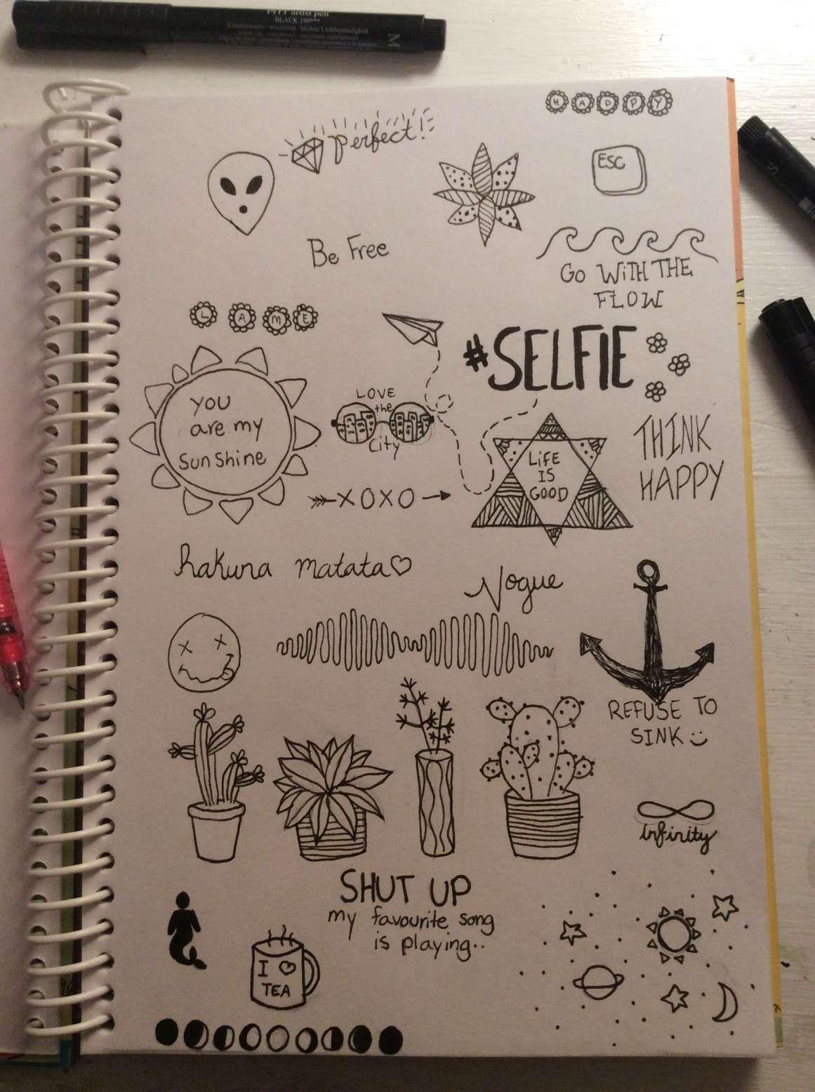15+ Cool Notebook Drawings | Pequenos desenhos, Desenhos ...