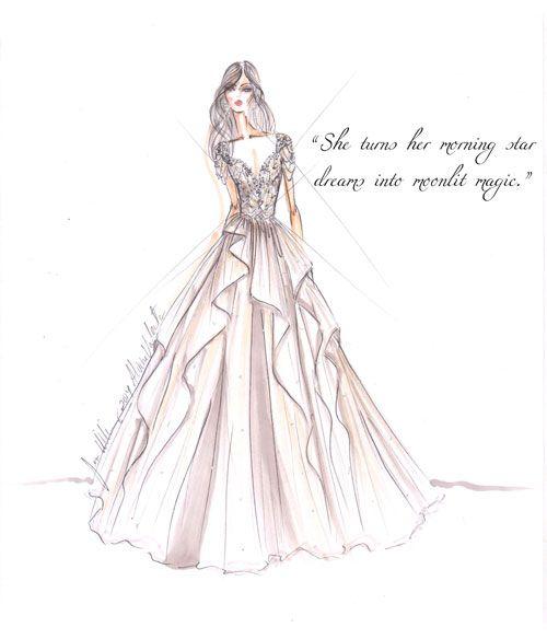 Pin by Carmen Phuah on Wedding Sketches Pinterest Wedding