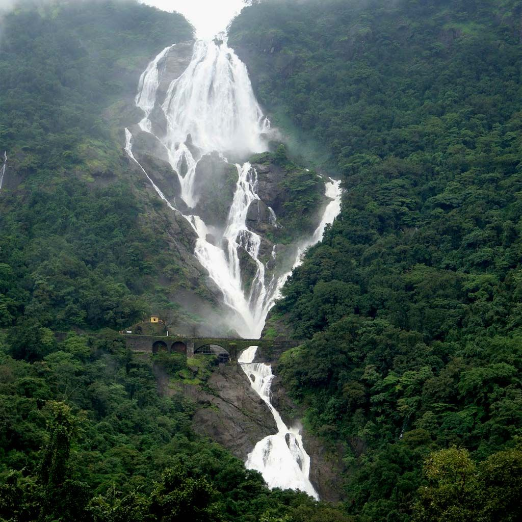 Dudhsagar Falls, India Dudhsagar Falls (literally meaning The Sea of Milk in…