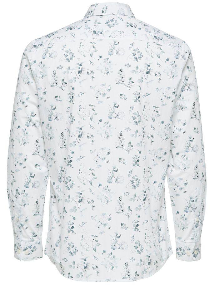 05aba3c4886 PRINTET - LANGÆRMET SKJORTE, Bright White, large | Mens fashion in ...