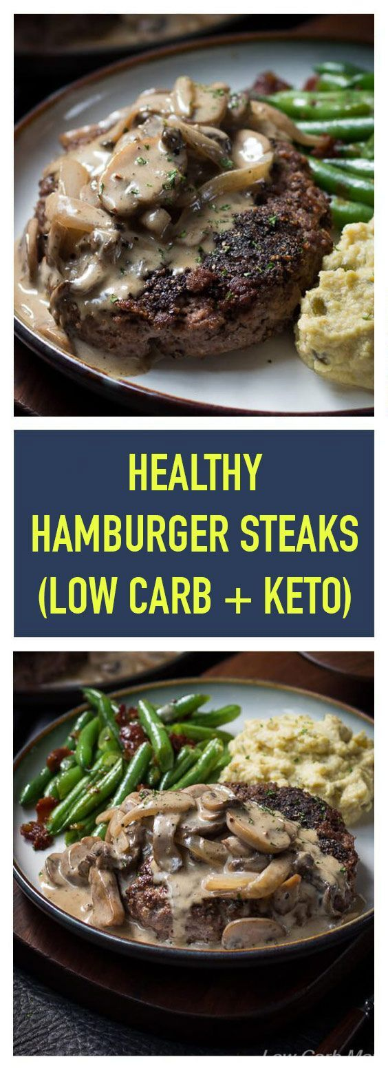 Photo of Healthy Hamburger Steaks (Low Carb + Keto) | A simple r …