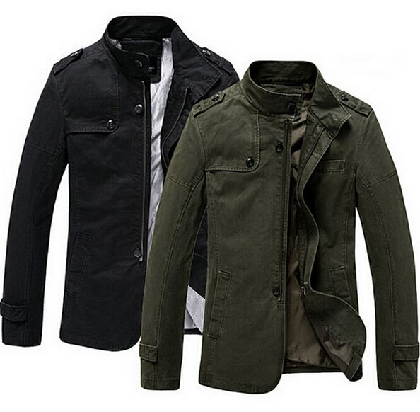 New High Quality Casual Men Jackets And Coats 100% Washed ...