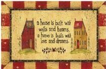 A Home is Built on Love Doormat by Carol Wright Gifts. $12.95. 18x27 inchesAnti Fatigue Design. Anti-fatigue design. Face: 100% polyester. Back: 100% urethane foam. 18 x 27 inches.