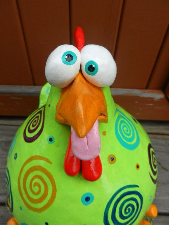 Dizzy Chicken Gourd reserved for Andy by BostfulBits on Etsy