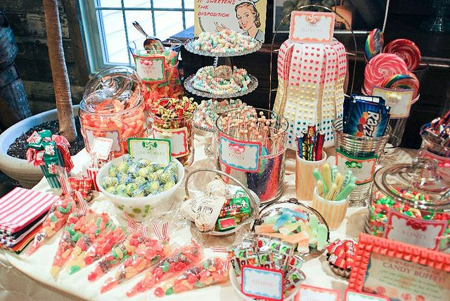 Dessert Table Birthday Candy Table Pink Candy Buffet Pink Candy