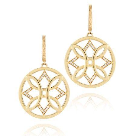 Ivanka Trump Large Gold & Diamond Aberdeen Earrings