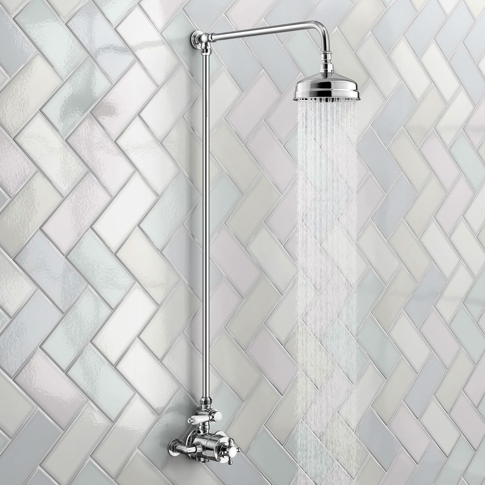 Traditional Shower Mixer Shower Valve Victorian Thermostatic Riser ...
