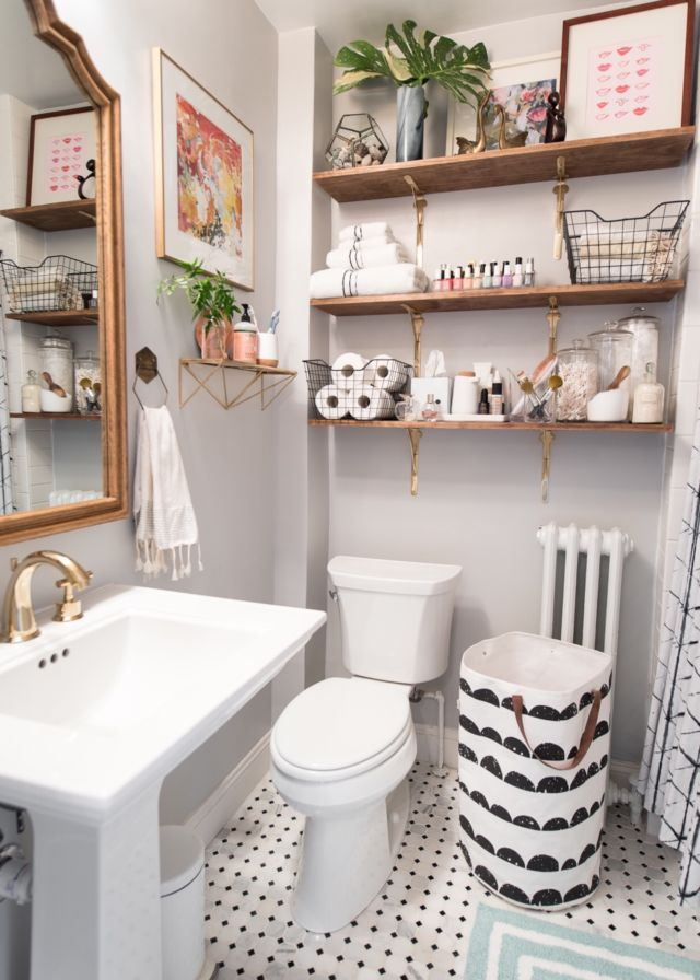 1920s inspired classic small bathroom decorating for Bathroom decor 1920 s