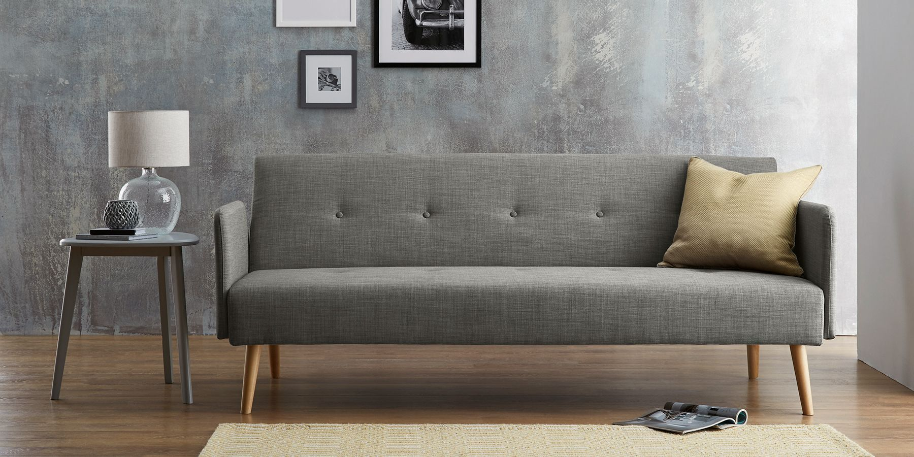 Finnley Occasional Sofa Bed Large 2 People Simple Contemporary Charcoal From The Next Uk Online