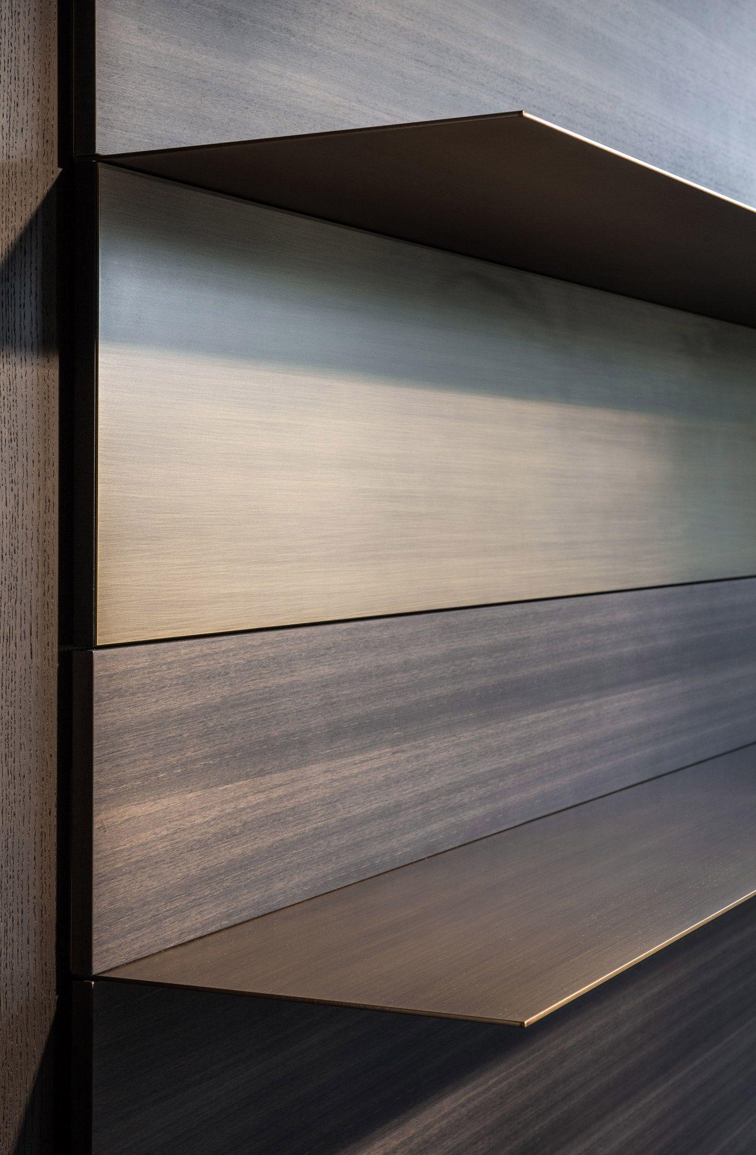 Porro spa libreria realizzata con piani in acciaio ad for Piani di coperta ad alta elevazione