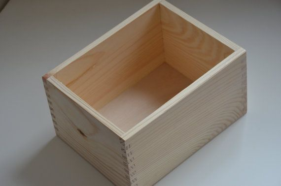 Unfinished wooden box from natural wood, great for decoupage 7.66 x 5.89 x 4.32 inch ( 19.5x15x11 cm )