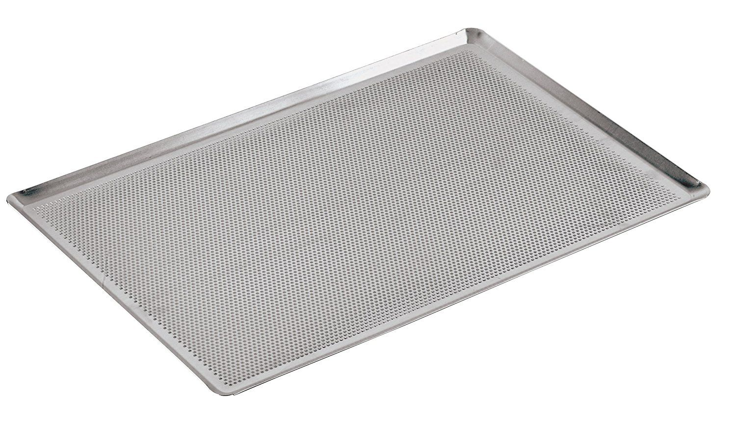 Paderno World Cuisine 15 3 4 Inch By 11 7 8 Inch Perforated Aluminum Baking Sheet With 45 Degree Angled Paderno World Cuisine Baking Necessities World Cuisine