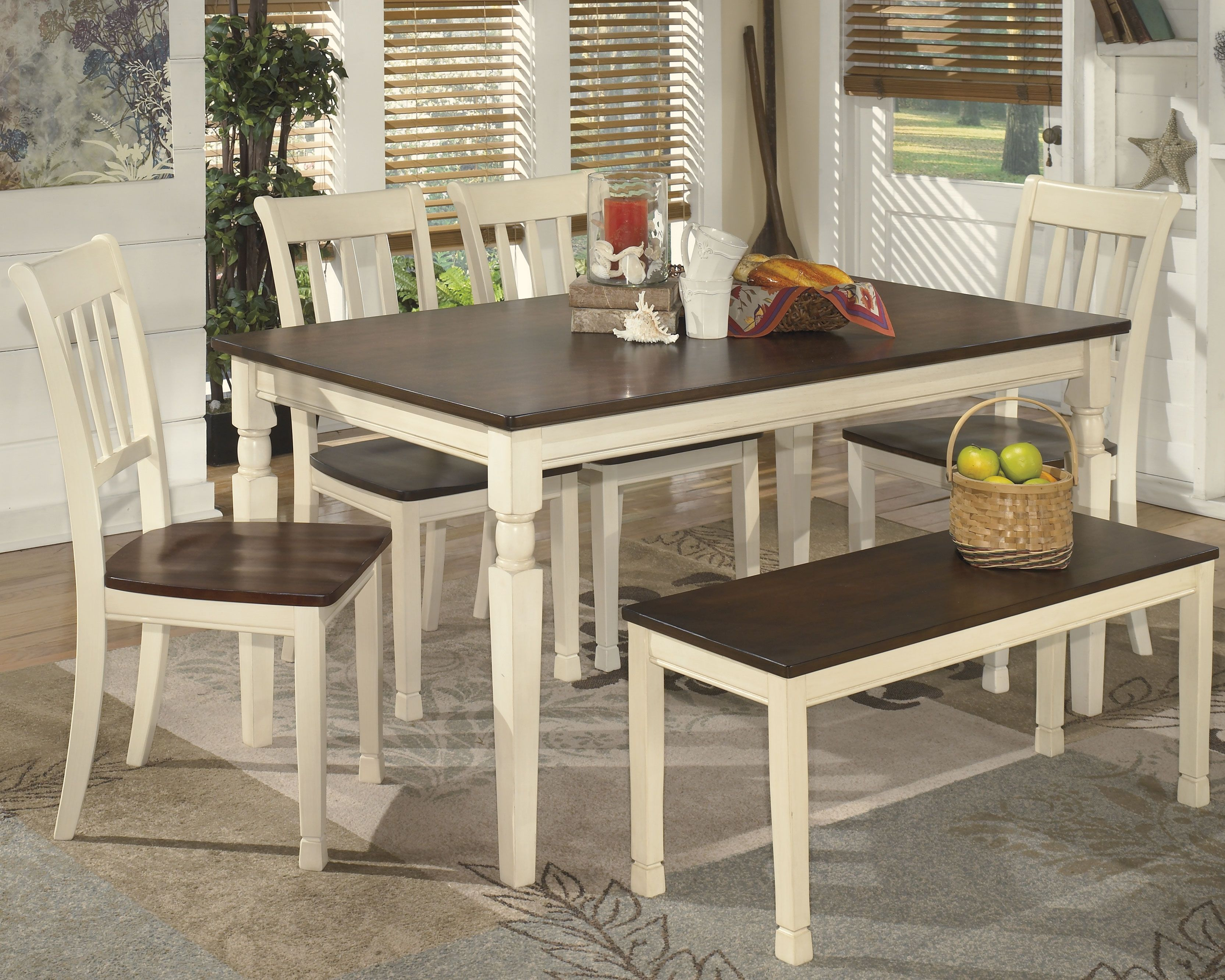 Whitesburg Dining Table And 4 Chairs, Whitesburg Dining Room Chair