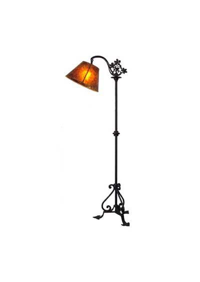 Waltham Floor L& this wrought iron mission style floor l& is perfect to stand near a chair or desk for additional lighting.  sc 1 st  Pinterest & Waltham Floor Lamp: this 54