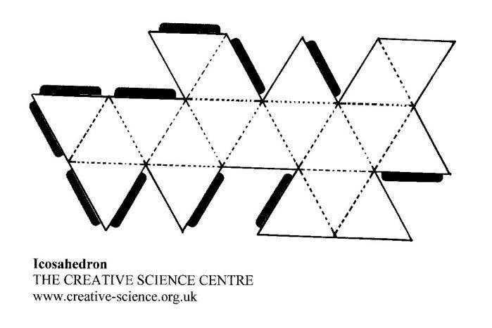 Icosahedron Net Related Keywords & Suggestions
