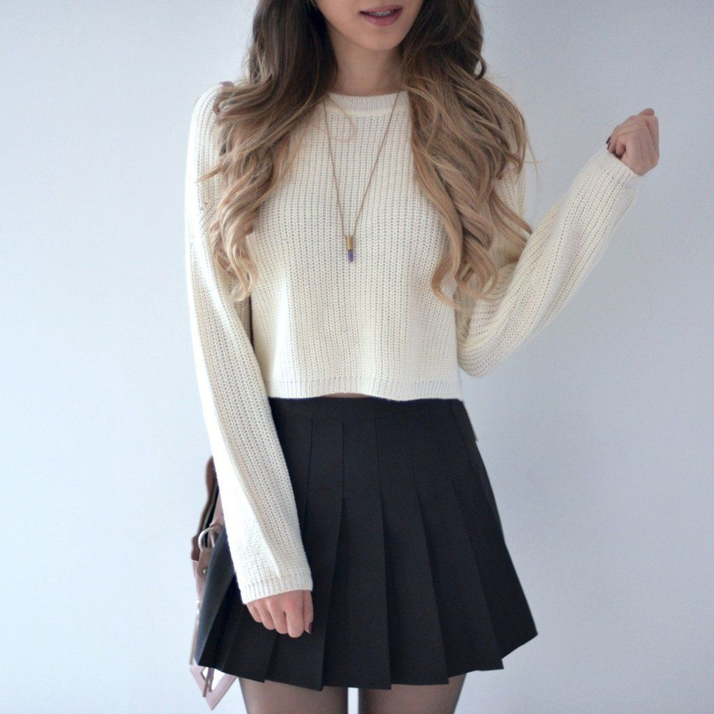Pleated Tennis Skirt Black Tennis Skirt Outfit Fashion Outfits Skirt Outfits