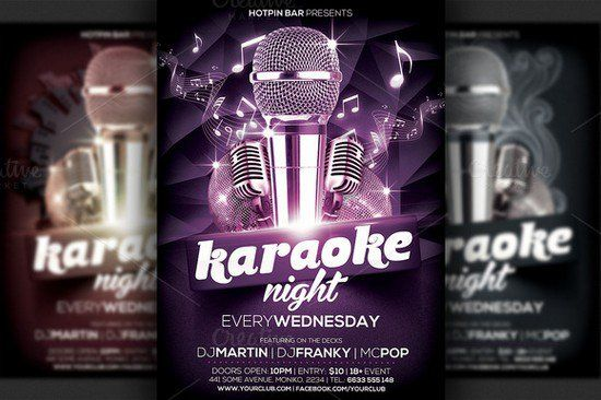 Karaoke Night Flyer Template  Sfvsd    Flyer Template