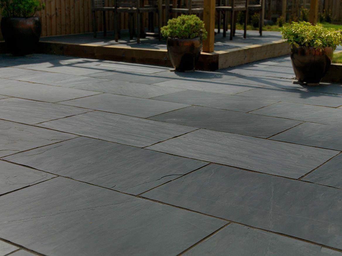 slate patio paving stone patio