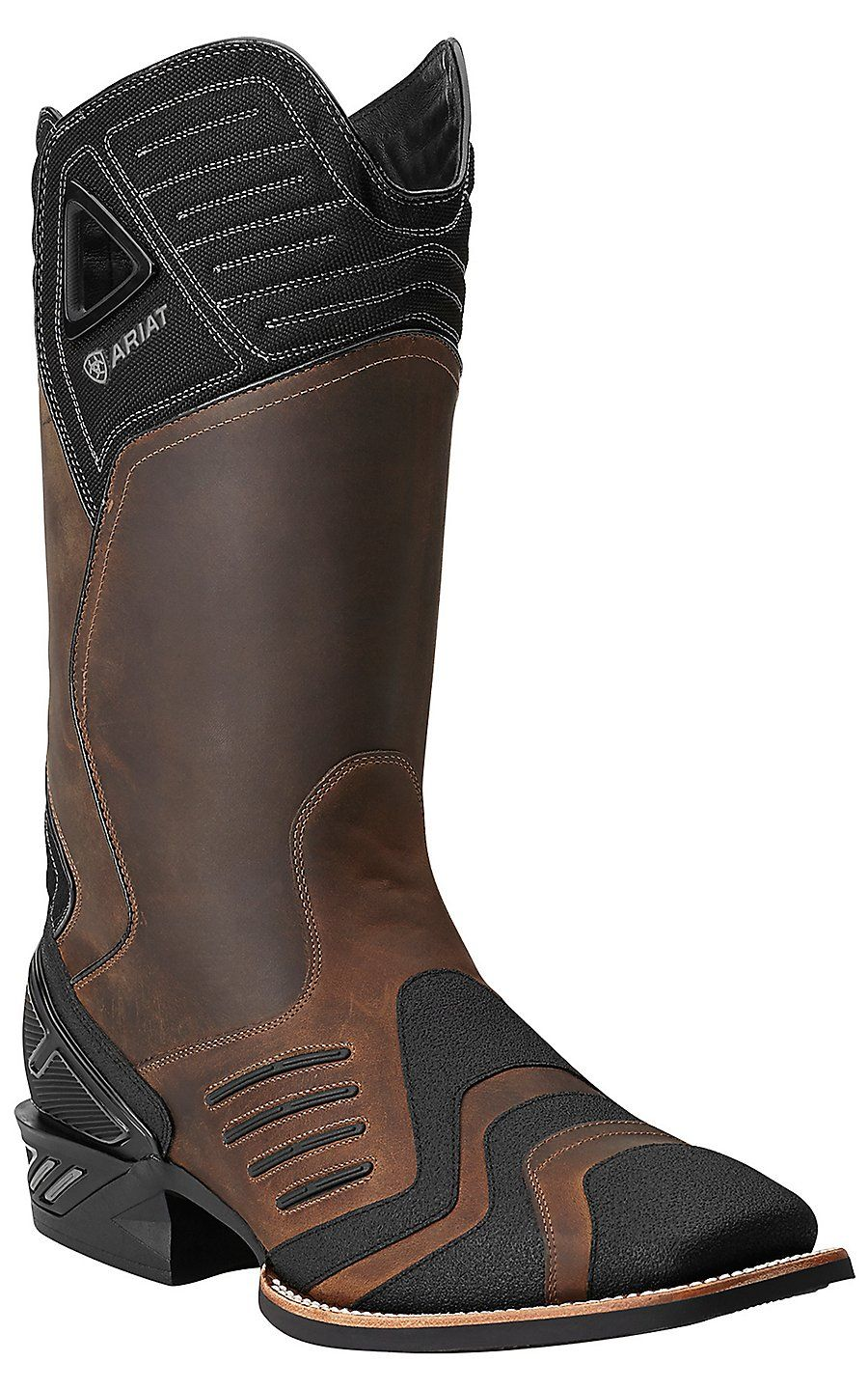 ee491e77e8c Bottes Western · Ariat Men s Distressed Brown Catalyst Double Welt Square  Toe Performance Boot Manteau Moto