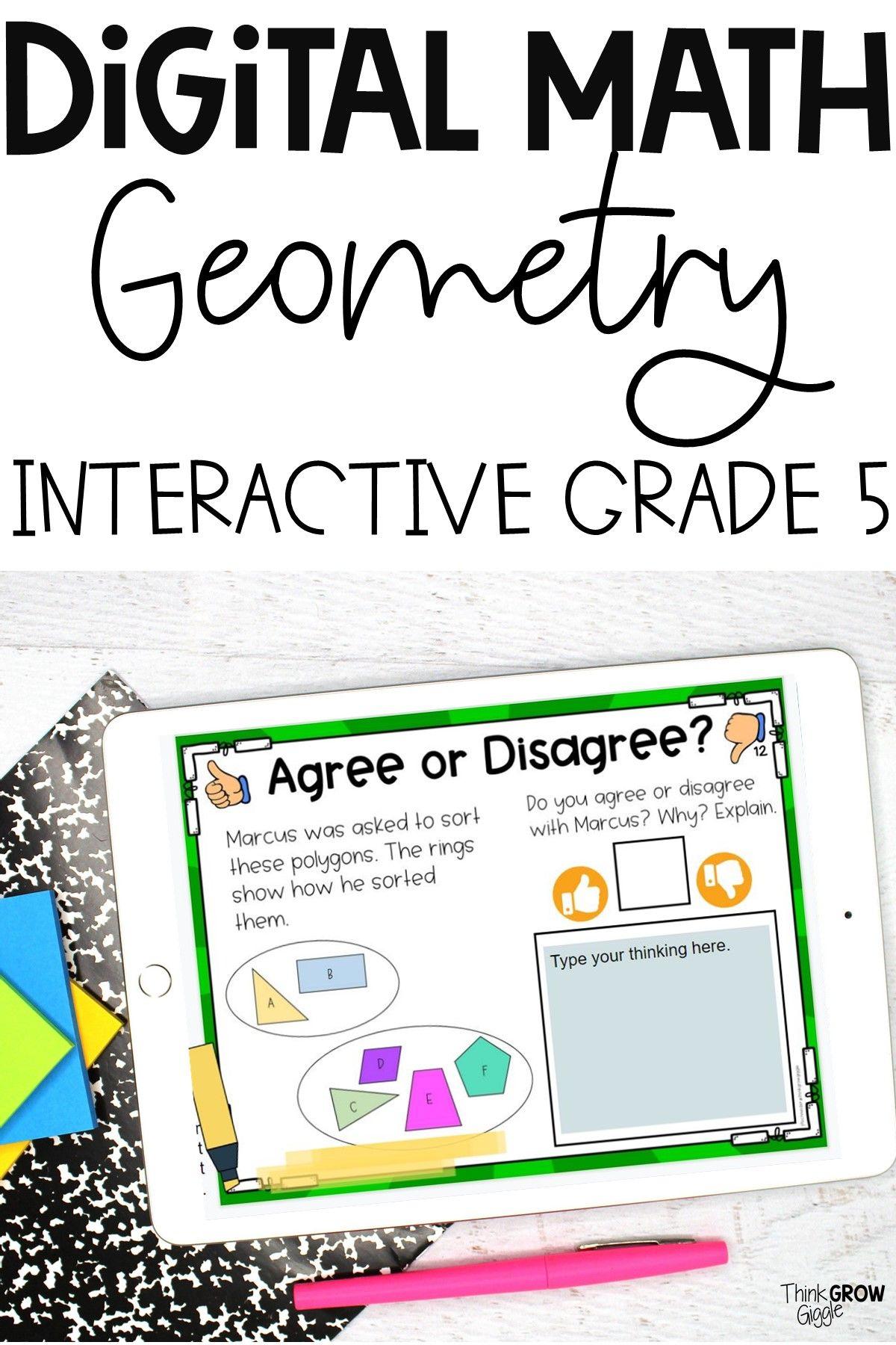5th Grade Geometry Activities In