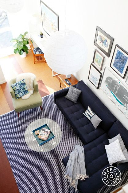 "Finishing Touches on a Five Story Townhouse - "" Touches like throw blankets, pillows and textiles were instrumental in making the space feel pulled together."" - @Homepolish Seattle"