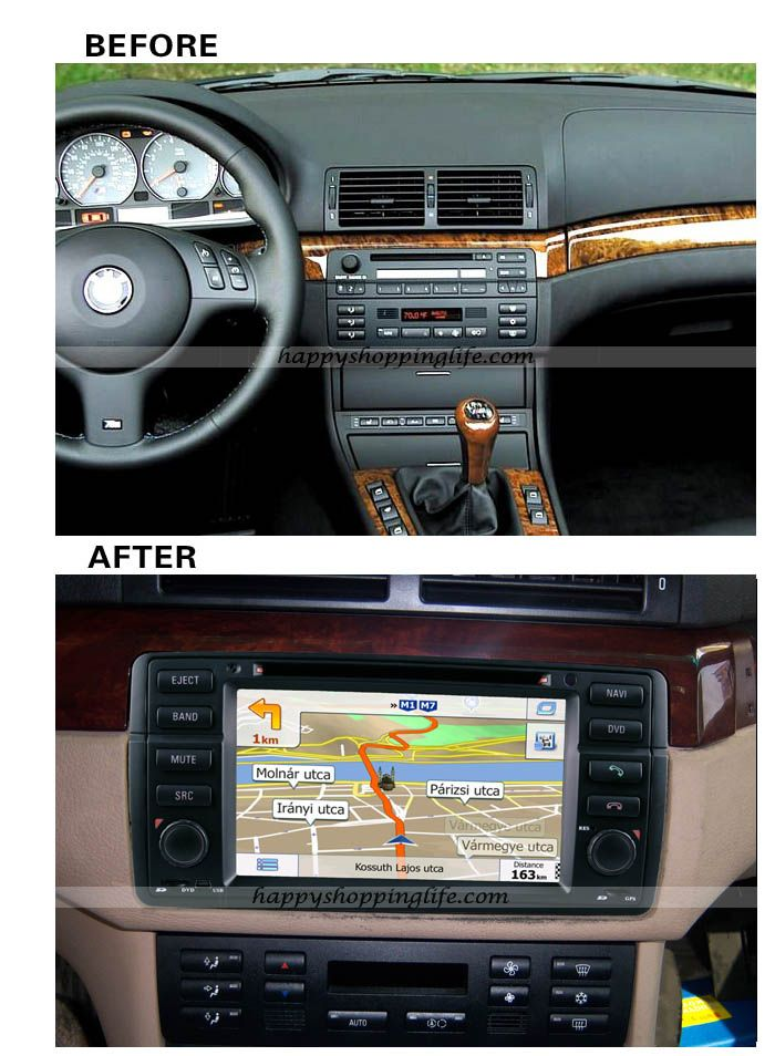 install bmw e46 dvd player with gps navigation can bus. Black Bedroom Furniture Sets. Home Design Ideas