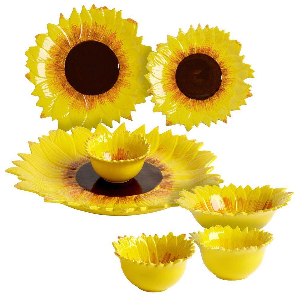sunflower ceramic dinnerware collection sunflowers sunflower