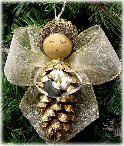 Diy pinecone angel - Diy Pinecone Angel Christmas Stuff Pinterest Christmas