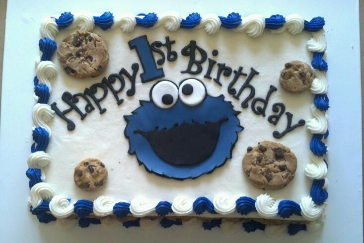 Cookie Monster Sheet Cake Monster Cookies