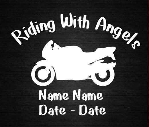 In Loving Memory Motorcycle Window Decal By CountryHeartDesignz - Window decals in memory of