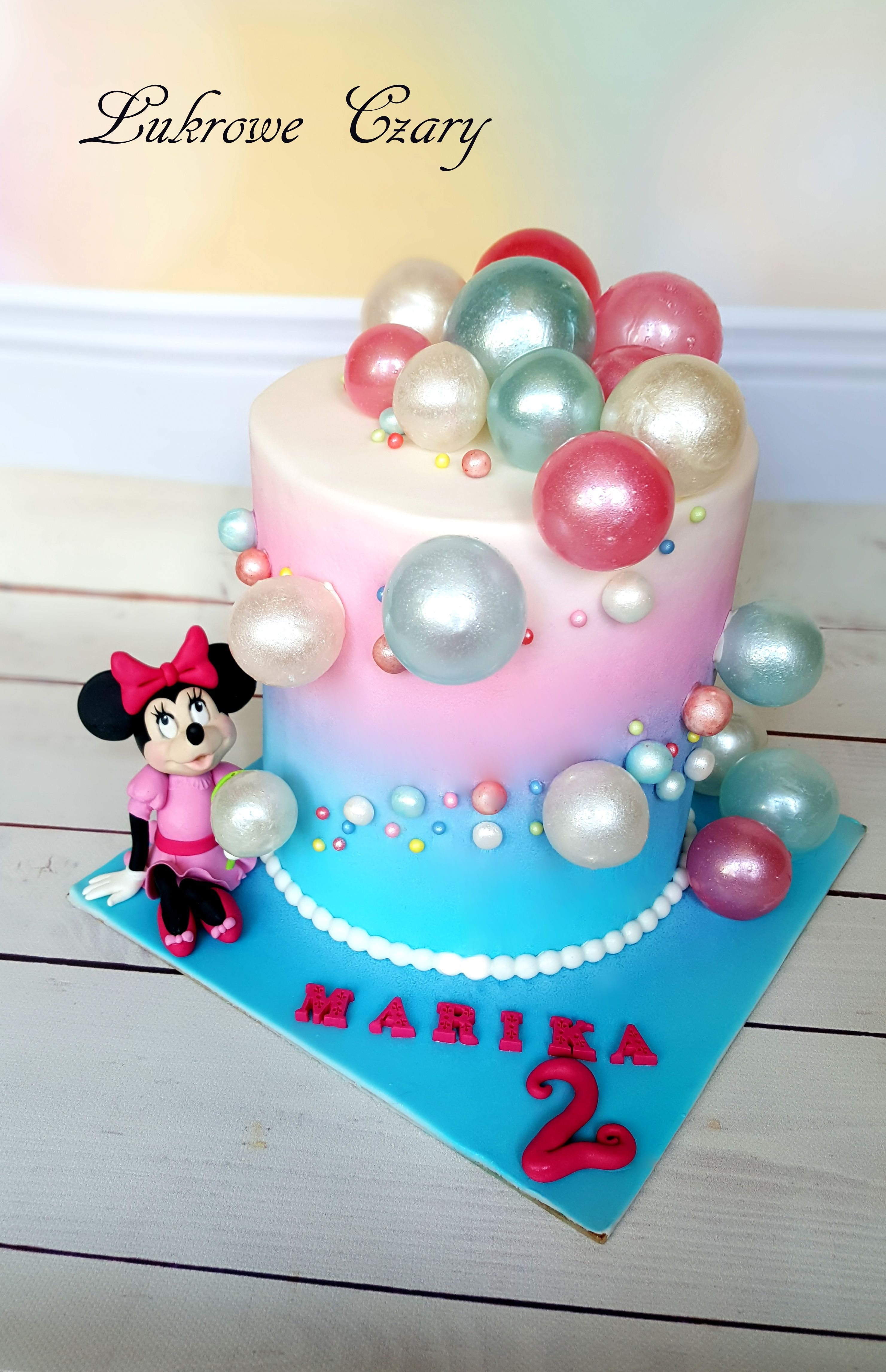 Gelatin Bubbles Cake With Minnie Mouse Mini Birthday Bubble 3rd