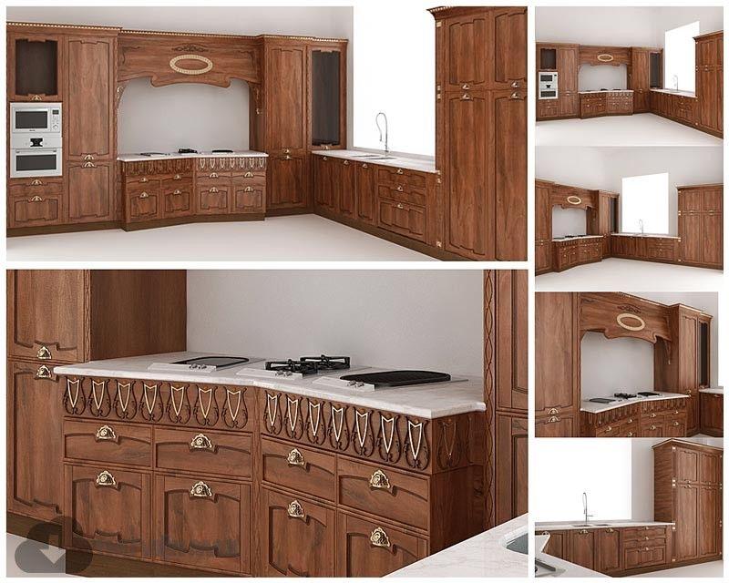 3d kitchen model 16 free download  kitchen models