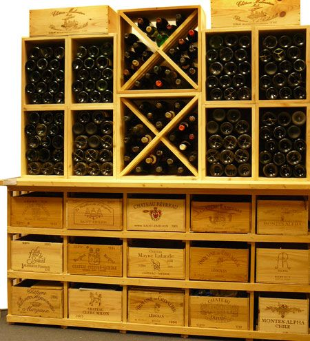 Casiers Pour Bouteilles Casier Vin Cave A Vin Rangement Du Vin Amenagement Cave Casier Bois Meuble En Bois Le Combi 5 Surmonte De 8 S Cave A Vin