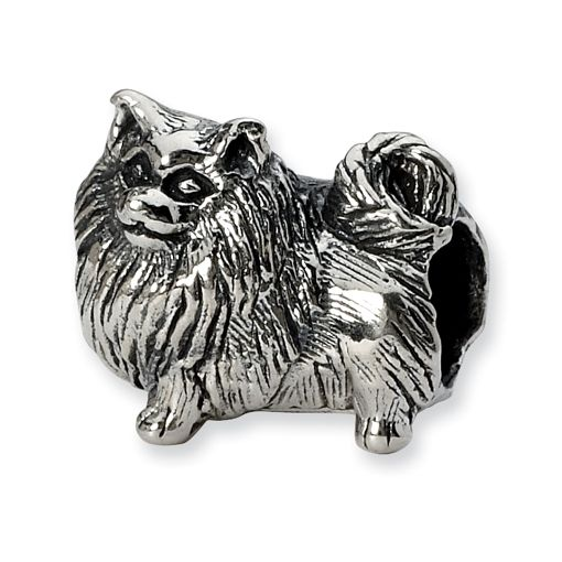 pomeranian charm pomeranian charm bead in sterling silver only 30 00 2639
